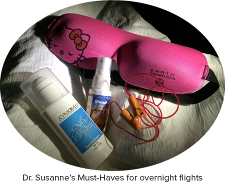 Dr. Susanne's Overnight Flight Must-Haves